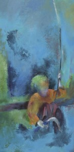 femme au bambou 50x100